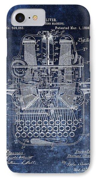 Vintage Typewriter Patent IPhone Case