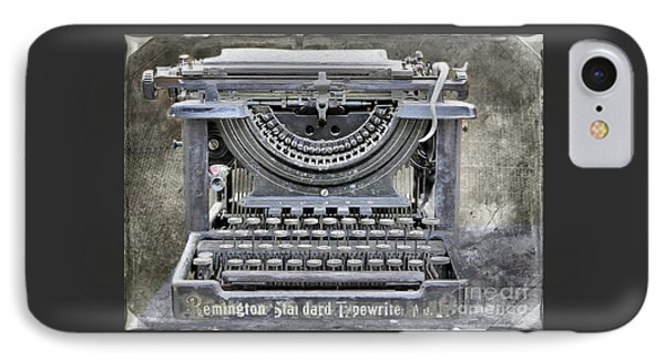 Vintage Typewriter Photo Paint IPhone Case by Nina Silver