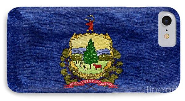Vintage Vermont Flag IPhone Case by Jon Neidert