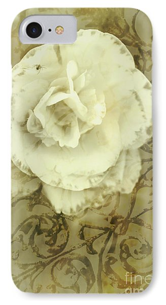 Vintage White Flower Art IPhone Case