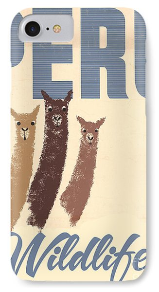 Vintage Wild Life Travel Llamas IPhone 7 Case by Mindy Sommers