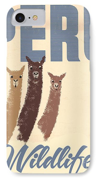 Vintage Wild Life Travel Llamas IPhone Case by Mindy Sommers