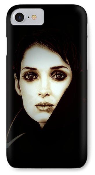 Vintage Winona Ryder IPhone Case by Fred Larucci