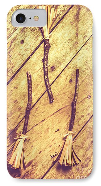 Vintage Witches Broomsticks IPhone Case by Jorgo Photography - Wall Art Gallery
