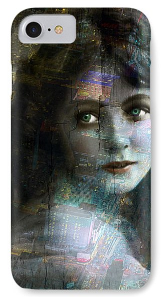 Vintage Woman Pop With Modern Highlights Sepia Vertical  IPhone Case by Tony Rubino