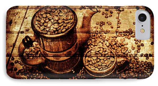 Vintage Wooden Coffee Shop Sign IPhone Case by Jorgo Photography - Wall Art Gallery