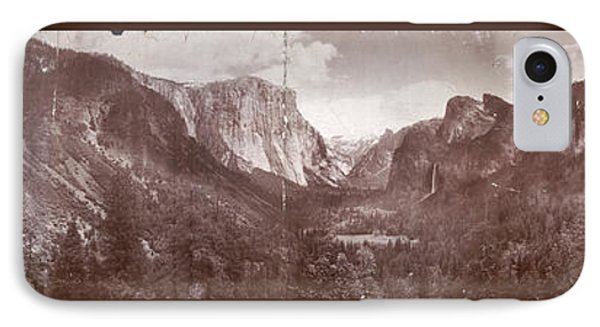 IPhone Case featuring the photograph Vintage Yosemite Valley 1899 by John Stephens