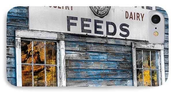 Vintage Feed Sign IPhone Case by Bill Wakeley