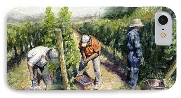 Vineyard Watercolor IPhone Case