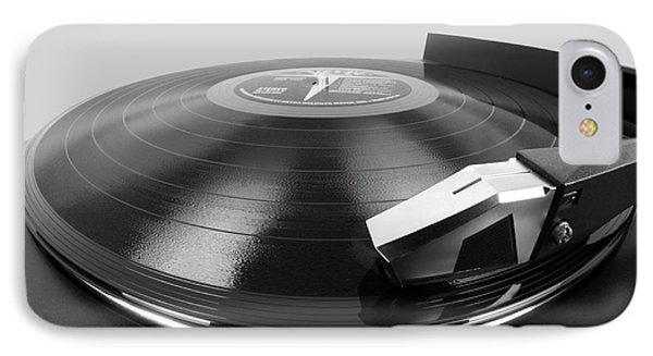 IPhone Case featuring the photograph Vinyl Lp And Turntable by Jim Hughes
