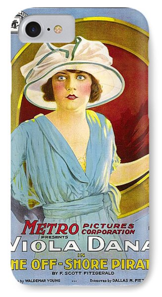 Viola Dana In The Off - Shore Pirate 1921 IPhone Case by Mountain Dreams