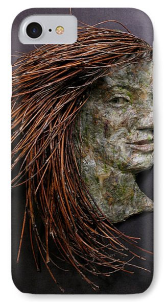 Violet A Relief Sculpture By Adam Long IPhone Case by Adam Long