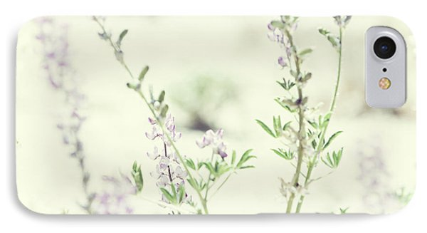 Violet And Green Bloom IPhone Case by Amyn Nasser