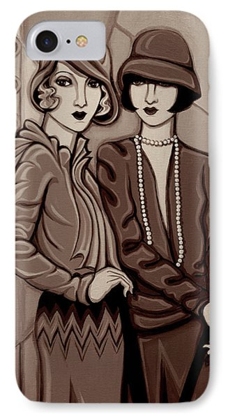 Violet And Rose In Sepia Tone Phone Case by Tara Hutton