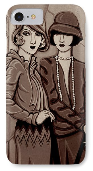 Violet And Rose In Sepia Tone IPhone Case by Tara Hutton