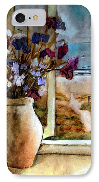Violet Beach Flowers IPhone 7 Case