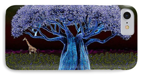 Violet Blue Baobab IPhone Case by Iowan Stone-Flowers
