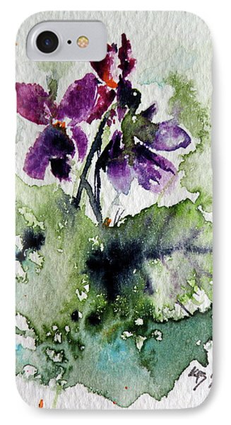 IPhone Case featuring the painting Violet Iv by Kovacs Anna Brigitta