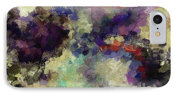 Violet Landscape Painting IPhone Case by Ayse Deniz