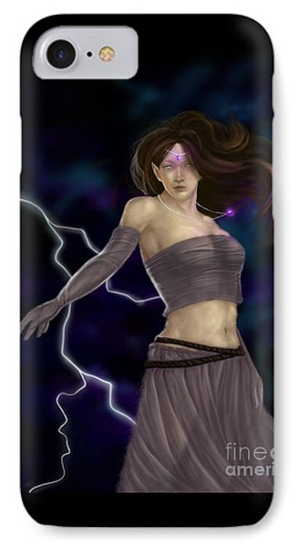 IPhone Case featuring the digital art Violet Magic by Amyla Silverflame