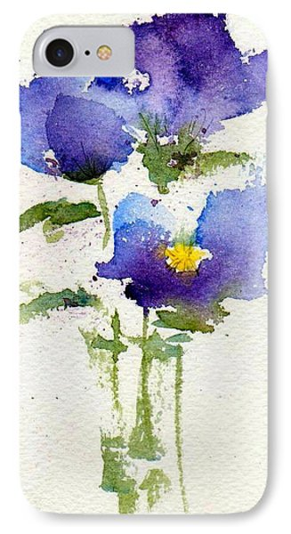 Violets Phone Case by Anne Duke