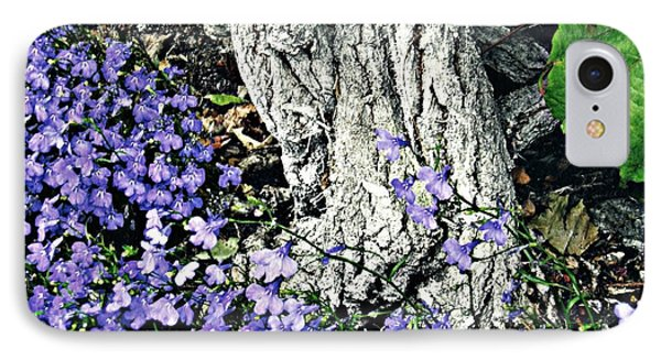 Violets At My Feet IPhone Case by Sarah Loft