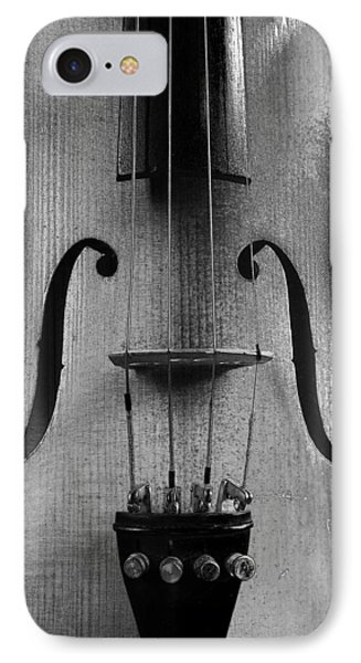 IPhone Case featuring the photograph Violin # 2 Bw by Jim Mathis