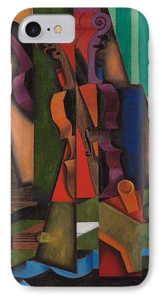 Violin And Guitar IPhone Case by Juan Gris