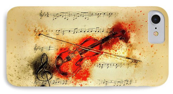Violin And Sheet Music IPhone Case