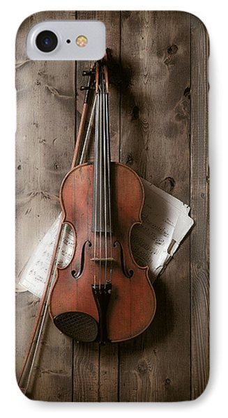 Violin IPhone 7 Case by Garry Gay