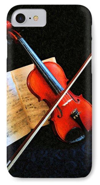 Violin Impression Phone Case by Kristin Elmquist