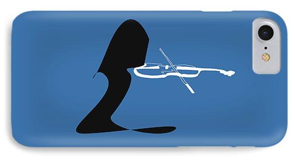 Violin In Blue IPhone Case
