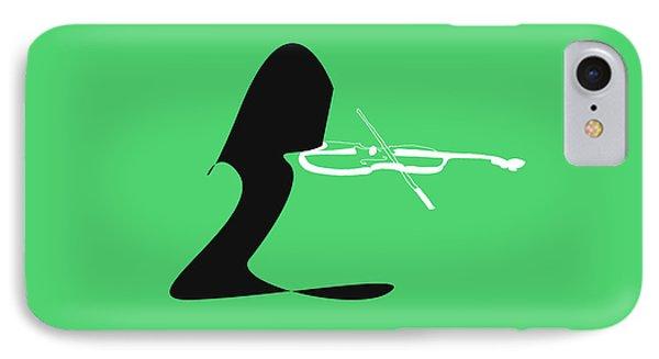 Violin In Green IPhone Case