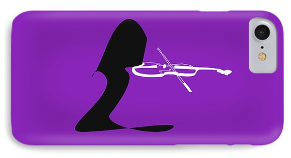 Violin In Purple IPhone Case by David Bridburg