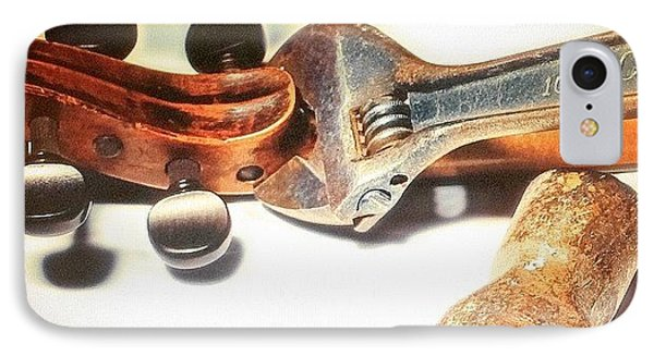 Violin Mechanics  IPhone Case by Steven Digman