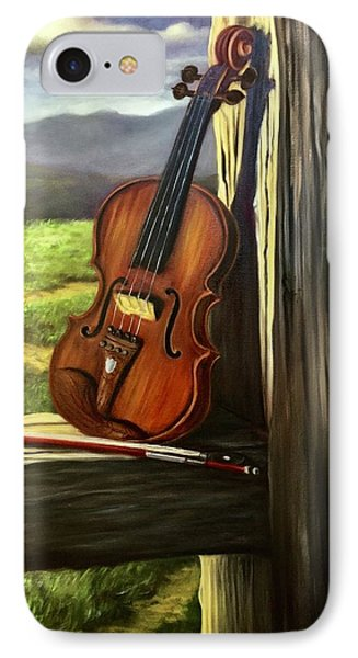 IPhone Case featuring the painting Violin by Randol Burns