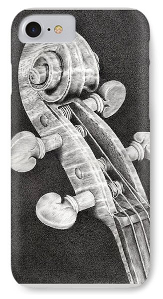 Violin Scroll IPhone Case by Remrov
