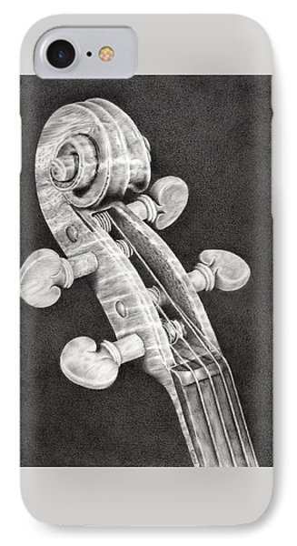 Violin Scroll IPhone 7 Case by Remrov