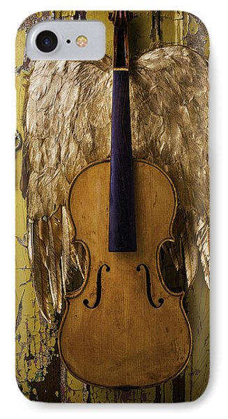 Violin With Wings IPhone Case by Garry Gay