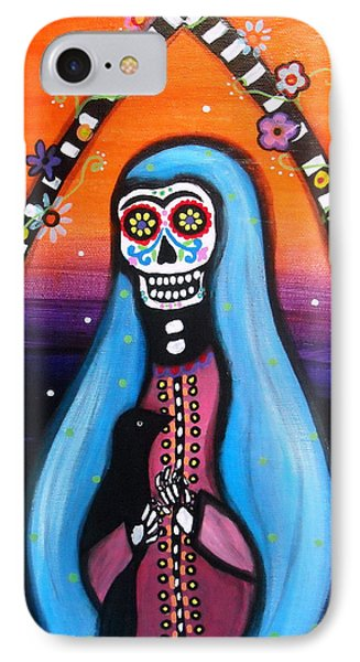 IPhone Case featuring the painting Virgen Guadalupe Muertos by Pristine Cartera Turkus