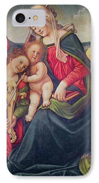 Virgin And Child And Angel Musicians  IPhone Case