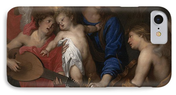 Virgin And Child With Music Making Angels IPhone Case