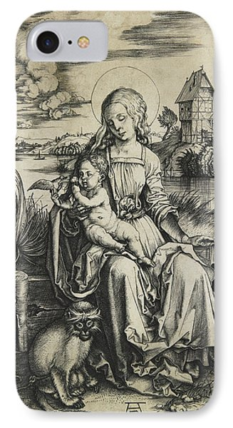 Virgin And Child With The Monkey IPhone Case by Albrecht Durer
