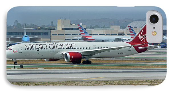 IPhone Case featuring the photograph Virgin Atlantic Boeing 787-9 G-vzig Los Angeles International Airport May 3 2016 by Brian Lockett