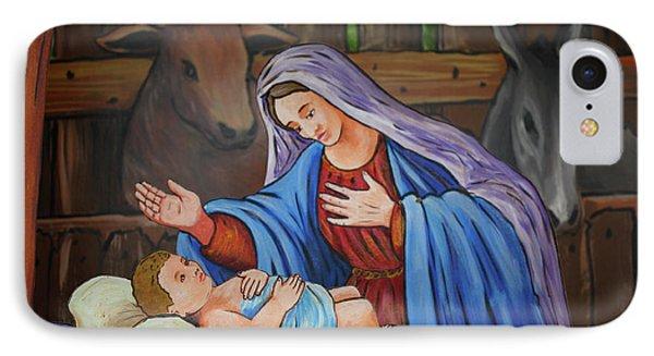 Virgin Mary And Baby Jesus Phone Case by Gaspar Avila