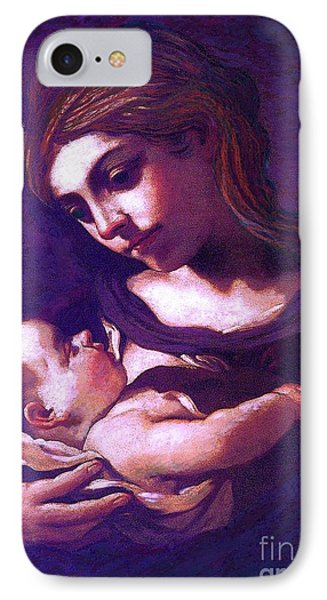 Virgin Mary And Baby Jesus, The Greatest Gift IPhone Case by Jane Small