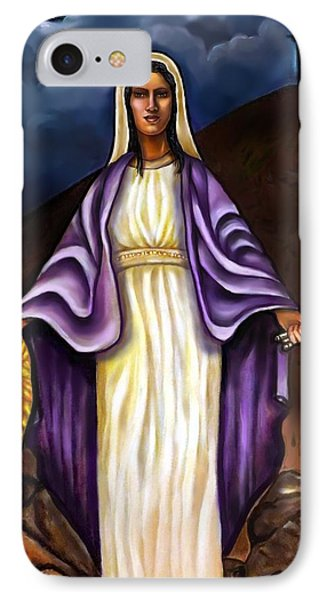 Virgin Mary- The Protector IPhone Case by Carmen Cordova