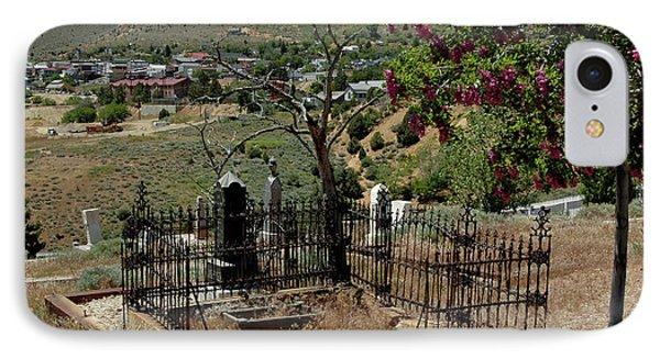 Virginia City Cemetery Broken Gate Phone Case by LeeAnn McLaneGoetz McLaneGoetzStudioLLCcom