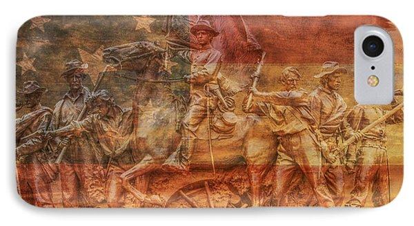 Virginia Monument At Gettysburg Battlefield IPhone Case