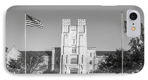 Virginia Tech Burress Hall IPhone Case by University Icons